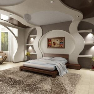 Декоративные конструкции из гипсокартона в интерьере жилища