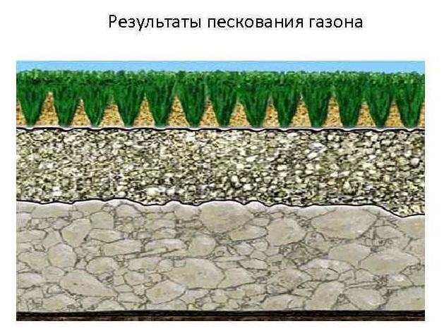 пескование газона